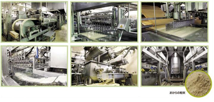 豆腐工場でおからを生産 イメージ
